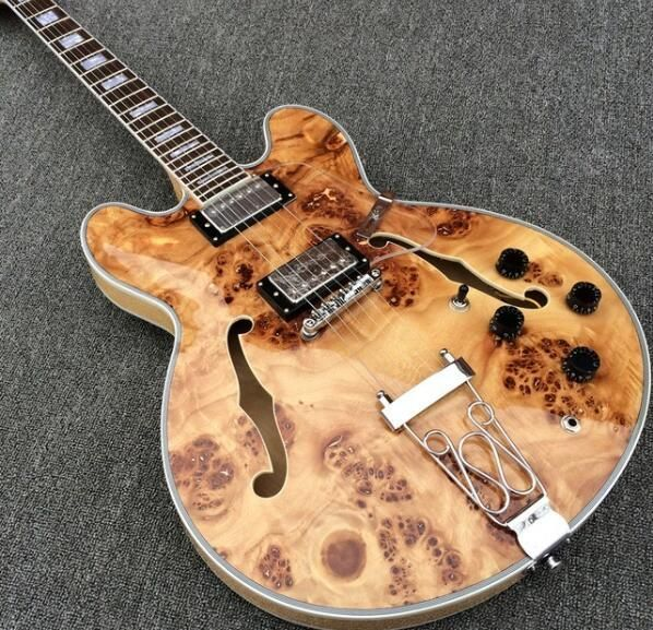 ES 335 Semi Hollow Body Spalted Maple Top