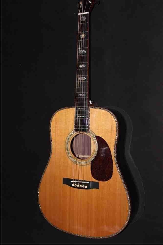 AAAA All Solid Dreadnought D45 Electric Acoustic Guitar