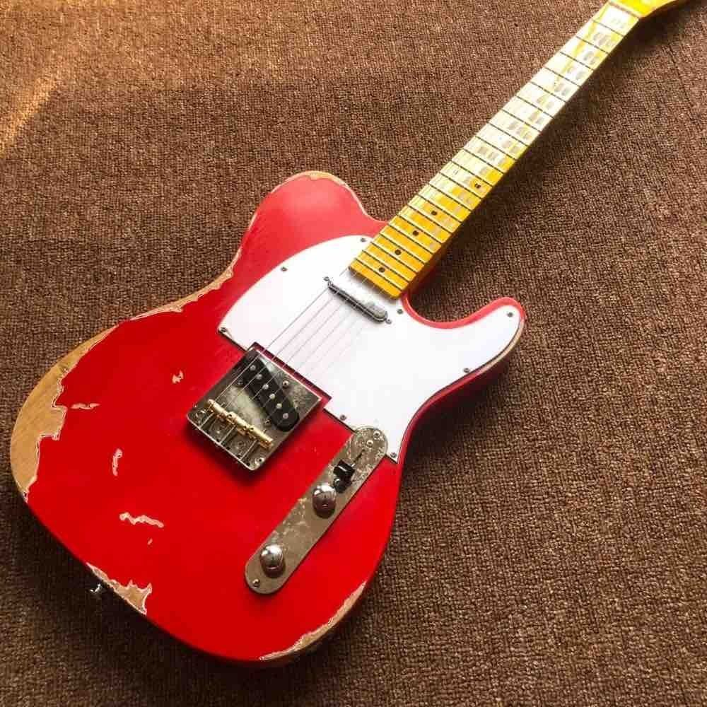 Red Color Master Build Relic TL Guitar