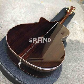 Solid Spruce Top Ebony Fingerboard Real Abalone Sunburst 916sb Classic Acoustic Guitar