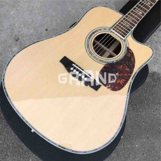 Solid Spruce Top D45c Cutaway Electric Acoustic Guitar