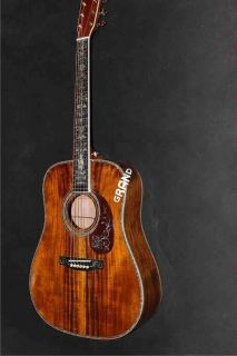 AAAA All Solid Koa Wood Dreadnought Body D-45ak Acoustic Electric Guitar