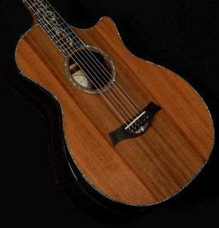 Real Abalone Inlays Cocobolo Back Side Solid Cedar Top Sp14s Acoustic Guitar