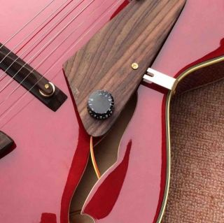 Custom L5 Jazz Archtop Semi Hollow Electric Guitar in Burgundy