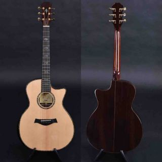All Full Solid Wood Ebony Fingerboard Acoustic Guitar with Armrest