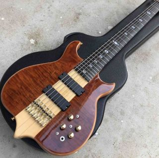 Neck Through Body Burst Maple Passive Closed Type Pickup 6 Strings Bass Ebony Fingerboard Electric Bass Guitar