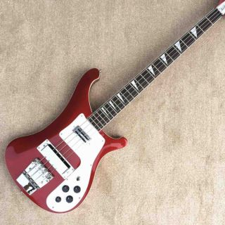 TOP QUALITY 4003 Model 4 Strings Bass Guitar Metal Red Color Rickenback Electric Guitar Bass