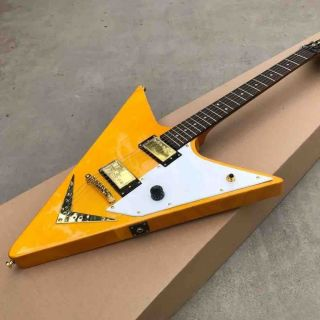 New Style handwork V style Electric Guitar Rosewood fingerboard guitar gold hardware