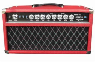 Custom Grand AMP SSS Steel String Singer Amplifier 50W in Red Tolex Color Is Optional