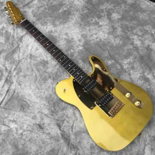 Custom Tele Electric Guitar in Gold Tl Electric Guitar Maple Fingerboard Mahogany Body Neck