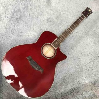 614 Flamed Maple AAAA Acoustic Guitar