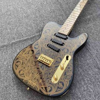 Custom Golden decals Canada Top Brand Nut High-grade Accessories Musical instruments Single Coil Pickups Tele Electric Guitar