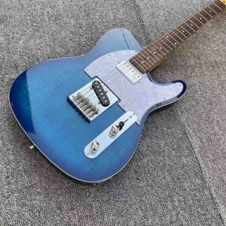 Custom Chrome Hardware Tele Electric Guitar Blue Boutique Alder Body Electric Guitar with GRAPH TECH TUSQ Nut,GALLISTRINGS