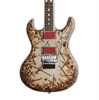 Grand E-II Burnt Signature Style Hand Painting Electric Guitar