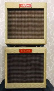 Custom Grand Princeton 5F2A Tweed Handwired Guitar Combo Amplifier, 5W with Celestion Speaker Control Volume Tone