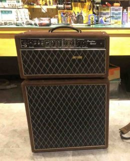 Custom Grand Over-drive Special ODS 30W Guitar Amplifier Head with Brown Tolex and VOXX Style Grill Cloth JJ Tubes