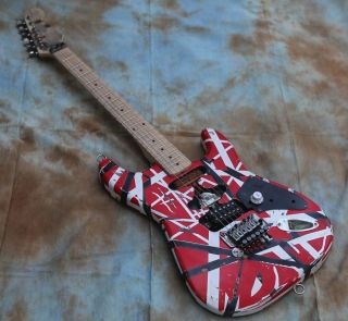 Custom Eddie Van Halen TRIBUTE Electric Guitar Frankenstein Frankenstrat Style Relic Type
