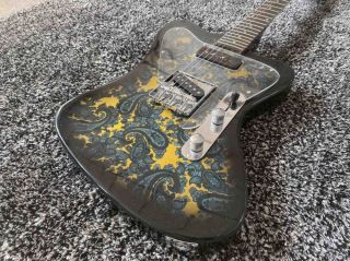 Custom Water Transfer Printing Veneer Rosewood Fingerboard Electric Guitar